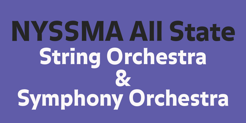NYSSMA Area All-State Orchestra concert