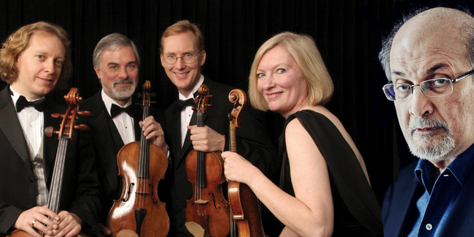 American String Quartet with Salman Rushdie