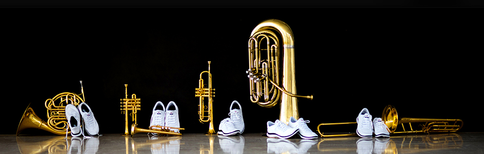 Canadian Brass white shoes and brass intsruments