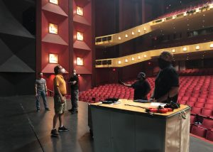 PAC Production Team in the Concert Hall