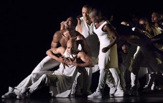Alvin Ailey company dance members in Exodus