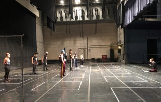 First day of school; Modern Dance class on the PepsiCo Theatre stage