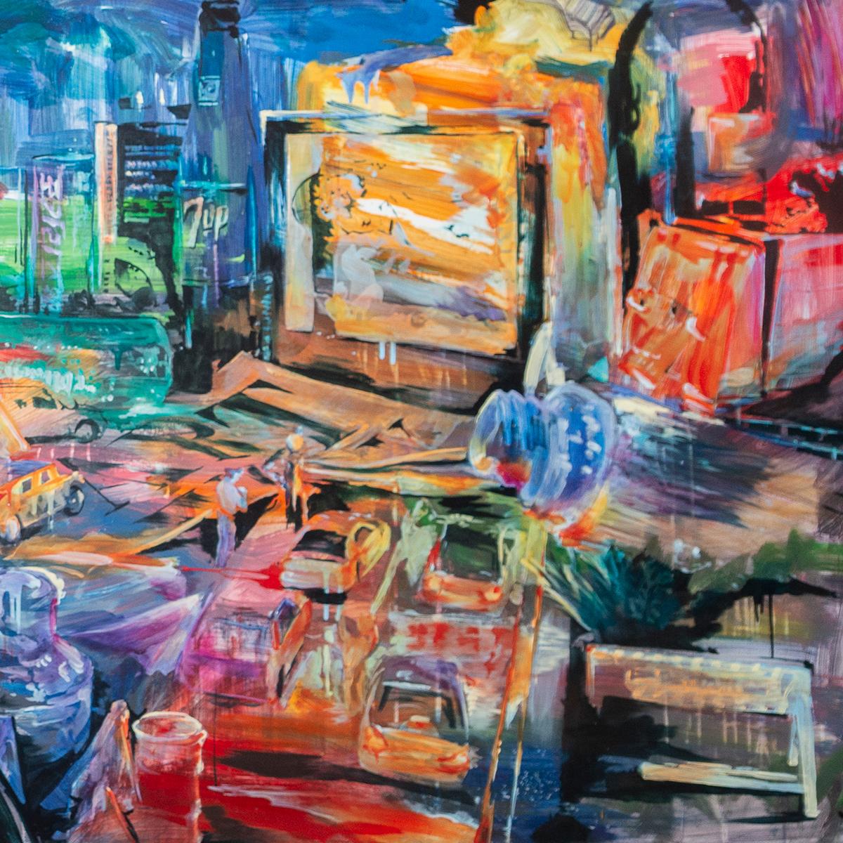 """Jakob Vitale """"The Drive-In"""" (detail)"""